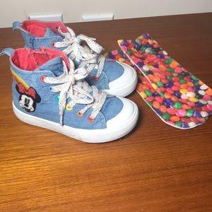 Disney Minnie Mouse hi top sneakers blue 10